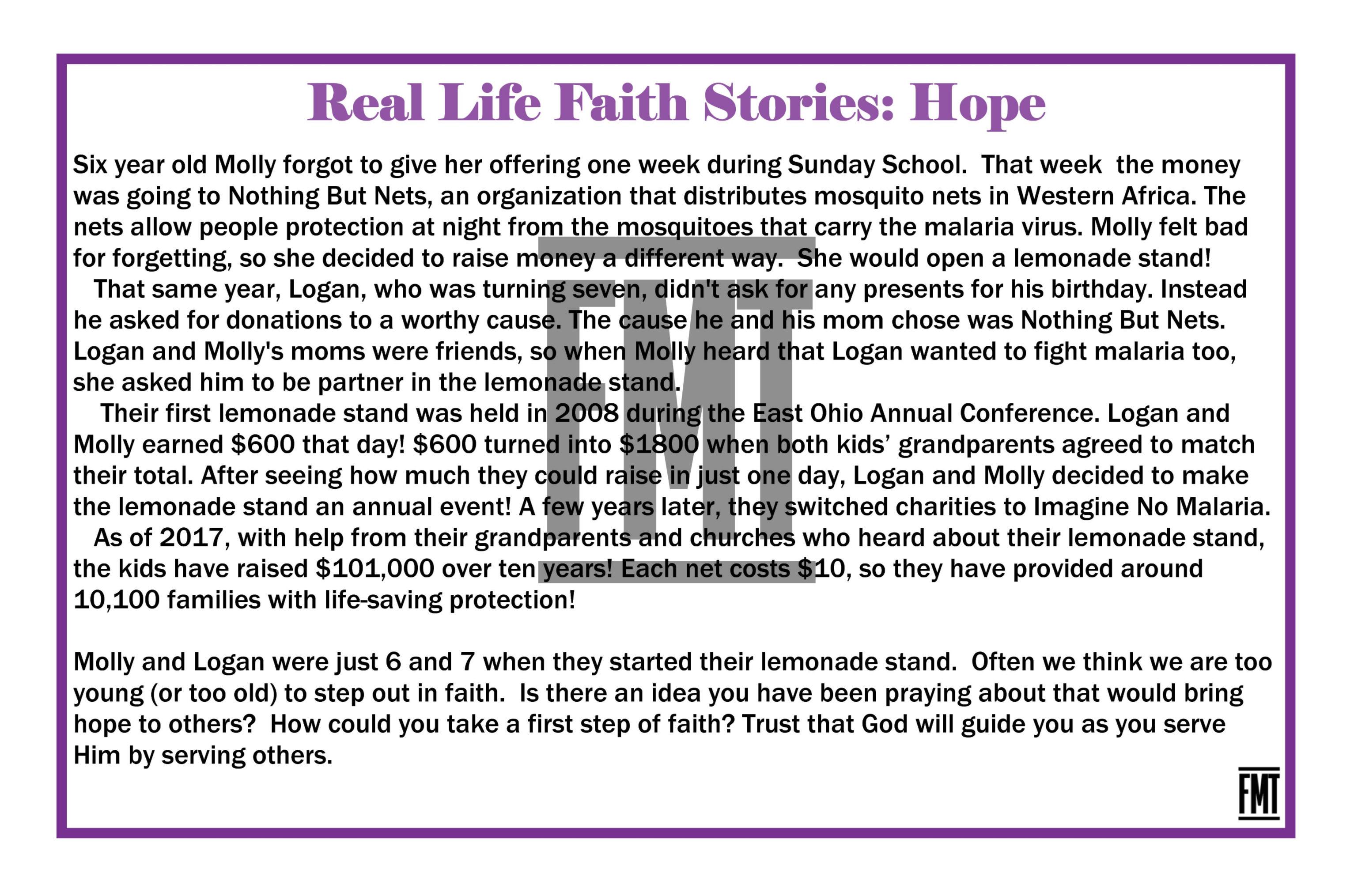 Hope Faith Stories